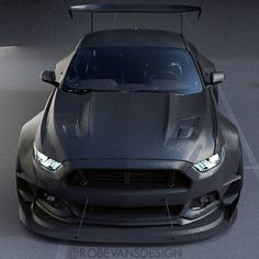 2015 Mustang Carbon Wide-Body Concept by @robevansdesign""