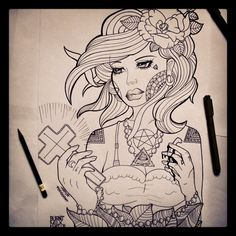 #draw #drawing #heart #pen #models #drawings #flash #flashart #flowers #tattoos #art #ink #inked #tattooflash #rose #roses #halfmoon #moon #pentagram #inkedwoman #cross #girl #hands #tringle #eyes