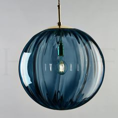 Paola Pendant, Blu Avio | Hector Finch Lighting