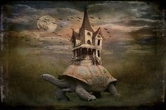 """Moonlight traveler by MarieG – Inspired by Aesop's Fable """"The tortoise and the Hare""""…..Once apon a time… Created in Photoshop CS5"""
