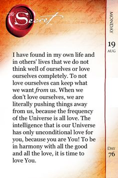Day 8 (daily teaching): NOTE TO SELF...I love you