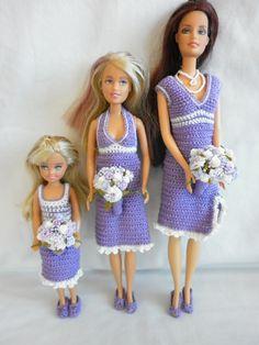 Little Miss' Crochet Barbie Wedding - Bridesmaids