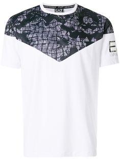 Emporio Armani Printed Shoulder T-shirt - Farfetch Dsquared2, Emporio Armani, Crop Tops, Shoulder, Prints, T Shirt, Collection, Shopping, Design