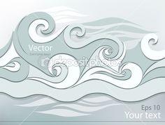 стилизованные волны — Векторная картинка #16215163