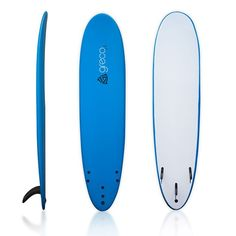 Buy, new or used 8' Performance Soft Top Foamboard Long Surfboard Foam Surfboard Longboard Funboard by Greco Surf, Blue with BIGWORDS.com