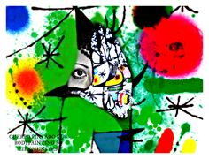 ::::HAND PAINTING TRIBUTE TO JOAN MIRO BY LILY MUNSTER::::
