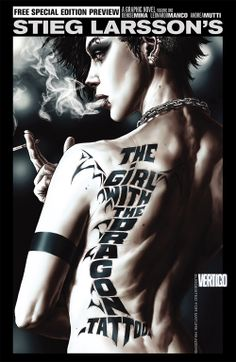 The girl with the dragon tattoo.  Loved this trilogy about Lizbeth Salander