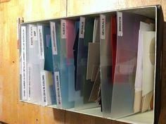 Best way to organize Stampin' Up! Scraps!!