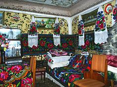 Maramures Traditions - A typical room of a country house Runic Alphabet, Camp Rock, Old Norse, Eastern Europe, Folk Art, Camping, Traditional, Blanket, Country