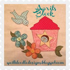Looking for your next project? You're going to love BOM 2015 April's Block Little Birds by designer Quilt Doodle. - via @Craftsy