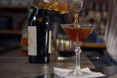Our spirits expert Noah Rothbaum takes us behind the scenes of the classic Manhattan cocktail. Learn the drink's origins and, of course, how to make a perfect version yourself. Manhattan Cocktail, Alcoholic Drinks, Cocktails, Origins, Martini, Learning, Tableware, Classic, Craft Cocktails