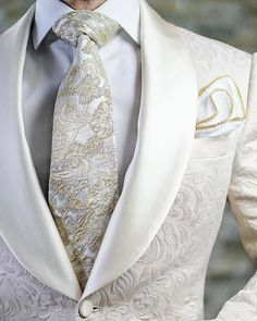 Wedding Suits S by Sebastian Ivory Paisley Dinner Jacket Sharp Dressed Man, Well Dressed Men, Mens Fashion Suits, Mens Suits, Men's Fashion, Groomsmen Suits, Trendy Fashion, Slim Fit Tuxedo, Mode Costume