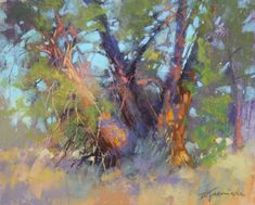 Kane's Pick of the Week: Capturing a Majestic Light landscape-painting-artists-Barbara-Jaenicke-Sunlit-Discombobulationlandscape-painting-artists-Barbara-Jaenicke-Sunlit-Discombobulation Landscape Painting Artists, Landscape Artwork, Landscape Drawings, Landscape Illustration, Artist Painting, Watercolor Artists, Painting Lessons, Watercolor Painting, Pastel Landscape