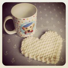 Julie and The Knits: Free Pattern: Knitted Heart Knitted Heart Pattern, Dishcloth Knitting Patterns, Knit Patterns, Knit Dishcloth, Stitch Patterns, Beginners Knitting Kit, Knitting Kits, Free Knitting, Knitting Ideas