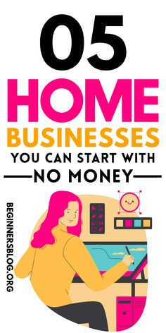 Here are 5 Home Businesses You Can Start With No Money. Make Easy Money Online, Earn Money From Home, Earn Money Online, Make Money Blogging, Way To Make Money, Own Business Ideas, Sms Language, Best Landing Pages, How To Make Resume