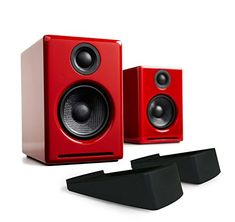 d199eccac70 Audioengine A2+ Limited Edition Premium Powered Desktop Speaker Package  (Red) With DS1 Desktop Speaker