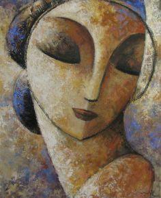 Oil on canvas 2012 - Didier Lourenço Abstract Face Art, Cubist Art, Art Visage, Portrait Art, Figurative Art, Painting Inspiration, Female Art, Art Pictures, Painting & Drawing