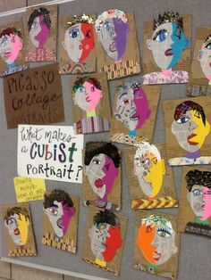 Art at Becker Middle School: Picasso portraits revisited - love this lesson