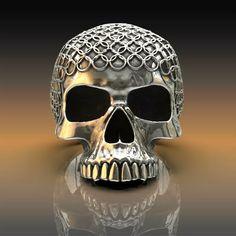 Skull rings, handmade original sterling silver skull jewellery by London jeweller John Patrick. Unique skull ring creations from a leading London based designer. Skull Jewelry, Gothic Jewelry, Fine Jewelry, Silver Skull Ring, Skull Rings, Skull Artwork, Skull Wallpaper, Wing Earrings, Skull And Bones