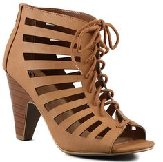 Delicious Women's Richelle Strappy Lace Up Chunky Heels Pumps ** Check this awesome image  : Lace up sandals