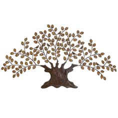 Metal wall decor with a tree silhouette. Product: Wall décor   Construction Material: Metal  Color: ...