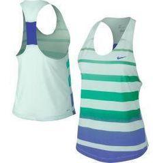 Nike Women's Dri-FIT Cotton Stripe Tennis Tank Top | Tennis Dresses | Tennis Skirts | Tennis Ladies Apparel @ www.FitnessGirlApparel.com