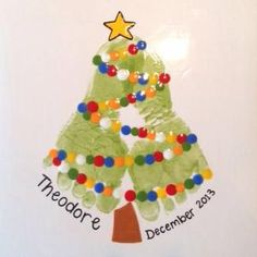 Christmas Tree Footprint Plate | Paint Your Own Pottery | Paint Your Pot | Cary, North Carolina by jamie_1