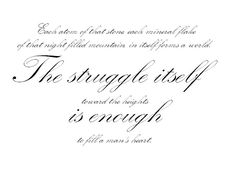 Future tattoo Albert Camus: The struggle itself