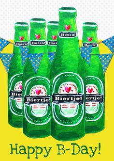 Verjaardagskaart Biertje PA, verkrijgbaar bij #kaartje2go voor €1,89