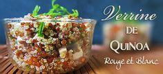 Verrine de quinoa rouge et blanc