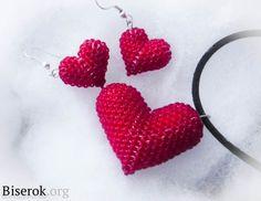 * Сердце из бисера