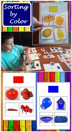 Sorting by Color- Autism Resource, Special Ed, Occupational Therapy, ABA Therapy For more resources follow https://www.pinterest.com/angelajuvic/autism-special-education-resources-angie-s-tpt-sto/