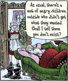 12 'Angry Children Mob' Hilarious Boxed Christmas Greeting Cards x inch, Merry Xmas Note Cards for Holidays, Gifts, Santa and Holiday Humor, Notecard Stationery w/Envelopes Funny Christmas Cartoons, Christmas Jokes, Funny Christmas Cards, Funny Cartoons, Christmas Greetings, Funny Comics, Christmas Fun, Funny Memes, Hilarious