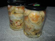 Pieczarki smażone w occie Preserves, Pickles, Mason Jars, Preserve, Preserving Food, Pickle, Canning Jars, Pickling, Glass Jars