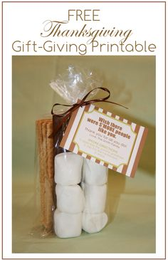 The Busy Budgeting Mama: Free Thanksgiving Gift-Giving Printable