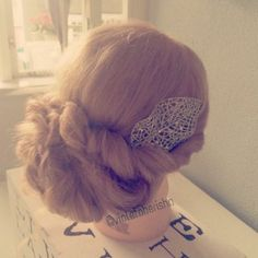 #hair #updo #romantic #long #cute #easy