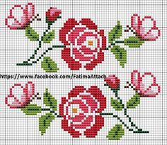 Here you can look and cross-stitch your own flowers. Cross Stitch Borders, Cross Stitch Rose, Cross Stitch Flowers, Cross Stitch Charts, Cross Stitch Designs, Cross Stitching, Cross Stitch Embroidery, Embroidery Patterns, Cross Stitch Patterns