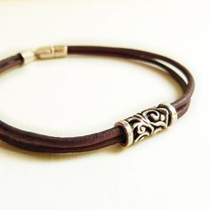 Leather Bracelet for Women / Men with