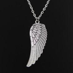 Chain Men Crosses new fashion angel wings Pendants round cross chain short long Mens Womens silver necklace Jewelry Gift - Mens Silver Necklace, Silver Necklaces, Jewelry Necklaces, Silver Ring, Silver Jewelry, Jewellery, Angel Wing Necklace, Angel Wing Pendant, Fashion Angels