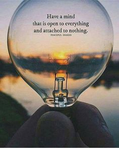 Have a mind that is open to everything..