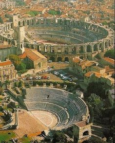 Roman Arenas, Arles, France ~ Some of the best preserved architecture of the Roman Empire in the world.Roman Arenas, Arles, France ~ Some of the best preserved architecture of the Roman Empire in the world. Architecture Antique, Roman Architecture, Places To Travel, Places To See, Empire Romain, Ville France, Provence France, Ancient Rome, Ancient Aliens