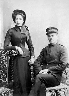 Ida and Patrick in their Salvation Army uniforms. Patrick is a few years older than Ida and has more of sibling relationship with her than an uncle/niece one.
