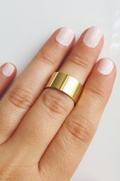 Gold ring  Gold cuff ring Band gold knuckle ring by HLcollection, $18.00
