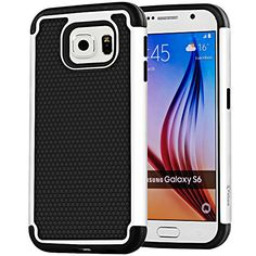 VAKOO For Samsung Galaxy S6 Case Armor [Ultra Fit] Premium TPU Grip Bumper Heavy Duty Protection Slim Fit Hybrid Matte Hard Protective Case for Galaxy S 6 / Galaxy S VI - White Vakoo http://www.amazon.com/dp/B00XVBDZT8/ref=cm_sw_r_pi_dp_1IpEvb1R5A55P