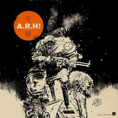 Aliens, Robots, Humans is a three issue series by Chris Ryall and Ashley Wood, an allegoricalstory with Aliens, Robots and Humans going at it like cats in a bag! Comic Books Art, Comic Art, Book Art, Wood Artwork, Ashley Wood, Marvel Comics Art, Comic Panels, Character Design Inspiration, Illustrators