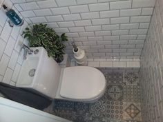 Stunning Understairs Toilet Idea Subway Victorian Tiles Pics Of Bathroom Designs Under Stairs Style And For Popular Bathroom Designs Under Stairs - Bathroom Design Contemporary Small Downstairs Toilet, Small Toilet Room, Downstairs Cloakroom, Small Bathroom, Porch With Toilet, Understairs Toilet, Understairs Ideas, Toilet Tiles, Bathroom Under Stairs