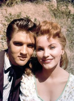 "Dedicated To Elvis A. Presley — Elvis Presley and Debra Paget in the set of ""Love. Hollywood Actresses, Actors & Actresses, Actress Christina, Elvis Presley Movies, Young Elvis, Ann Margret, Priscilla Presley, Gene Kelly, Steve Mcqueen"
