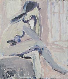 Eilif Amundsen 2010 - Sittende modell olje og tempera på plate, 60 x 50 cm Web Design, Design Art, Art Walk, Branding, Window Art, Portrait Art, Portrait Paintings, Portraits, Figure Painting