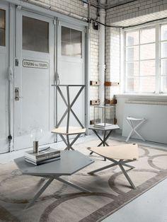 noearlybirds - NEB Hexagonal Side Table by Per Söderberg