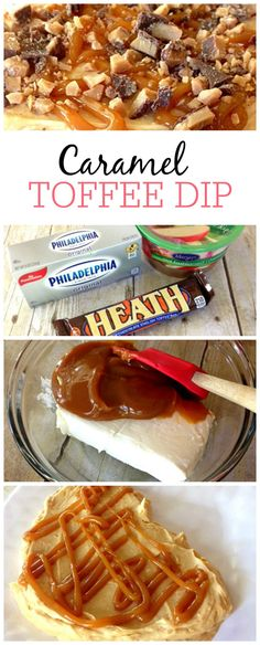 Looking for the perfect appetizer? This caramel toffee dip is so delicious with apples or pretzels. The best part it is only takes a few minutes to make.